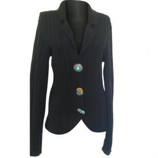 Les Copains Black Knit Cardigan