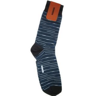 Missoni Blue Cotton Blend Socks