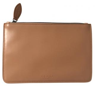 Alaia Beige Nude Leather Pouch Bag