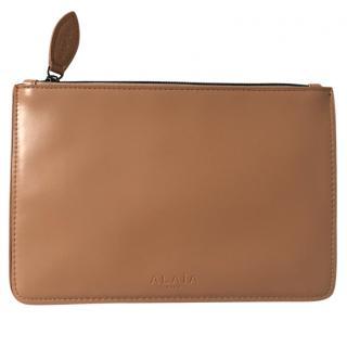 Alaia Beige Nude Clutch Bag