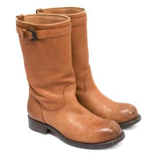 Bottega Veneta Tan Womens Boots