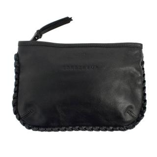 Longchamp Black Leather Clutch Bag