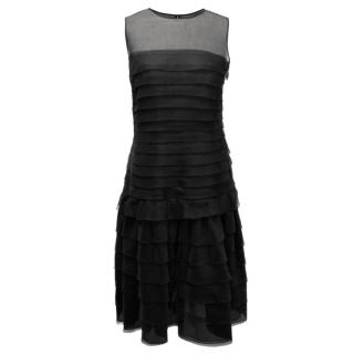 Oscar De La Renta Black silk organza Dress