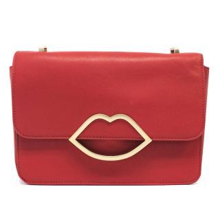 Lulu Guinness Red Lip Clutch Bag