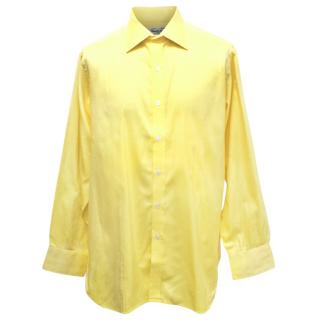 Turnball And Asser Mens Yellow Cotton Shirt