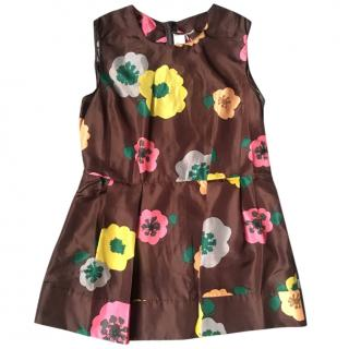 Marni Brown Floral Silk Top M