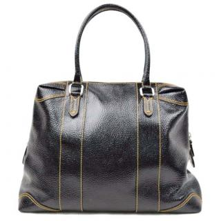 Fendi Black Vinyl Tote Bag 10429