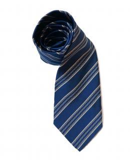 Ermenegildo Zegna Couture Blue Silk Tie