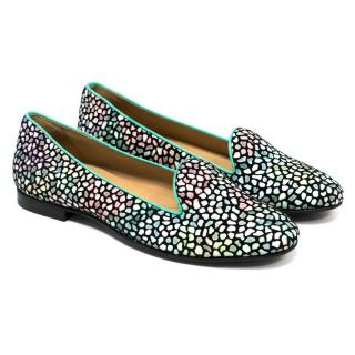 Chatelles Multicoloured Spotted Slippers