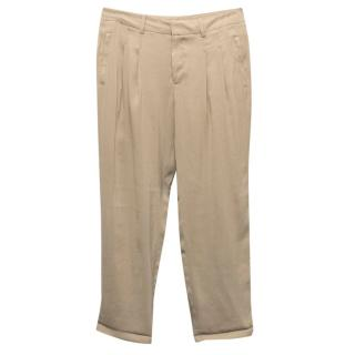 Club Monaco Taupe Tapered Trousers