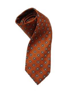 Brioni Orange Silk Tie