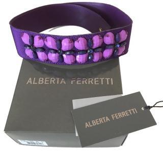 Alberta Ferretti Purple Beaded Belt