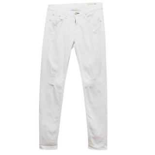 Rag and Bone White Dash Slouch Skinny Jeans
