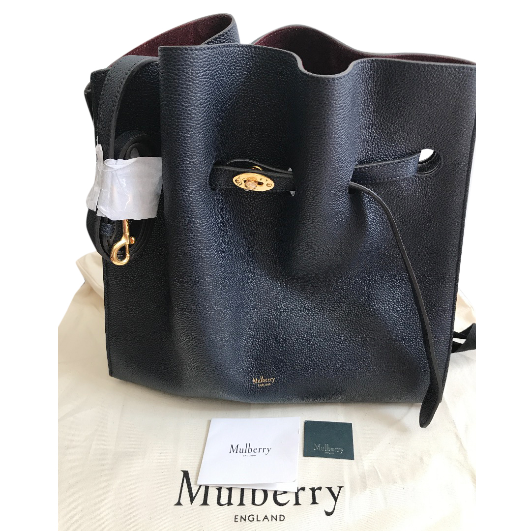 a8c3f55fb6 Mulberry Tyndale Midnight Small Classic Grain
