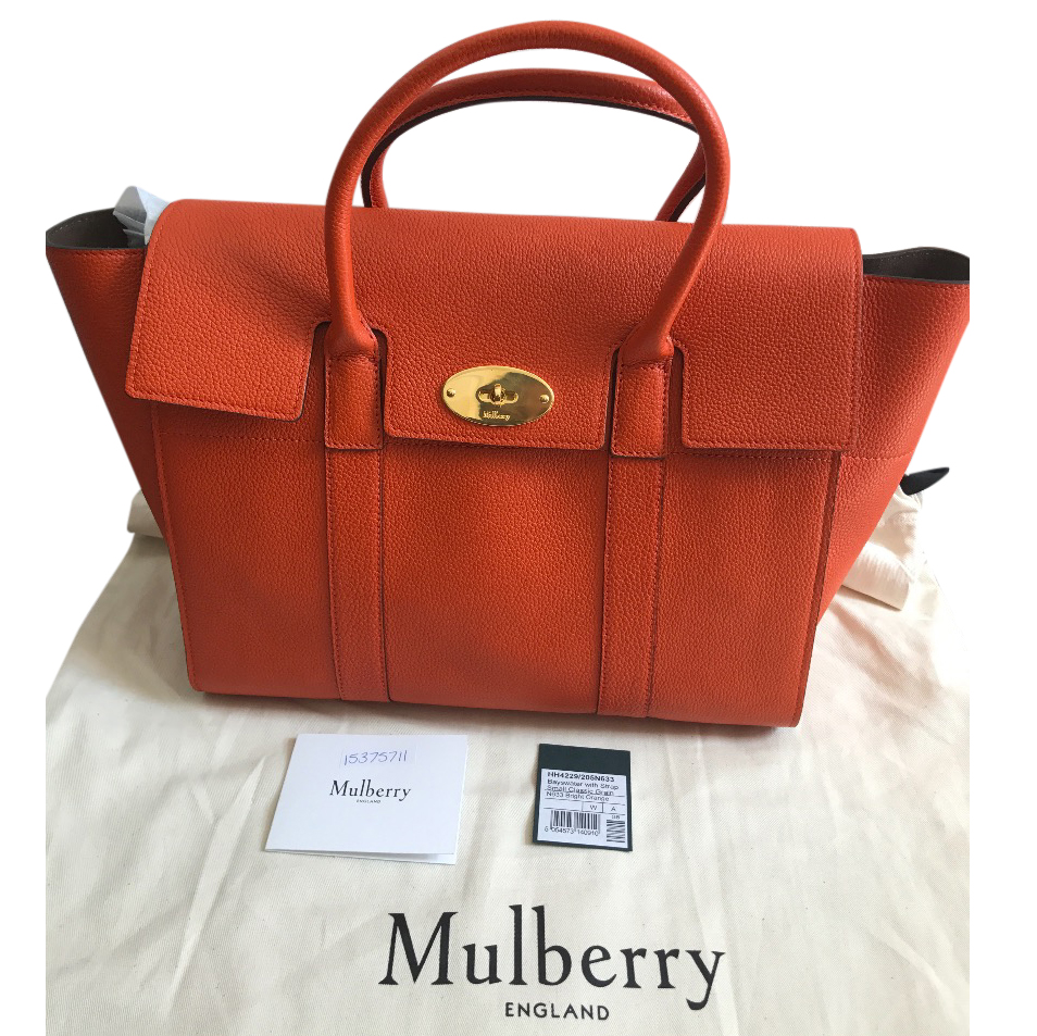 Mulberry Bayswater In Bright Orange  45106f0b2ed97