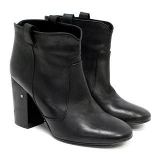 Laurence Dacade Black Leather Ankle Boots
