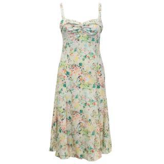 Edina Ronay Silk Floral Midi Dress