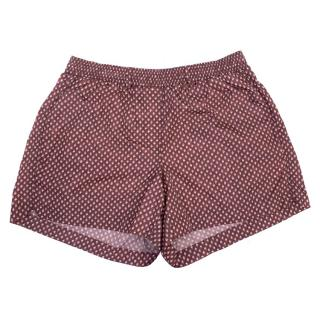 Burberry Mens Burgundy Printed Swim Shorts