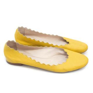 Chloe Yellow Ballet Flats