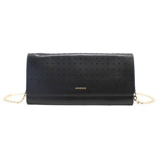 Anine Bing Black Leather Cross Body Bag