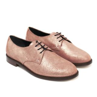 Meandher Pink Glitter Brogues