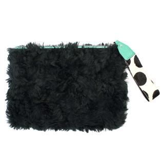 House of Holland Shearling Clutch