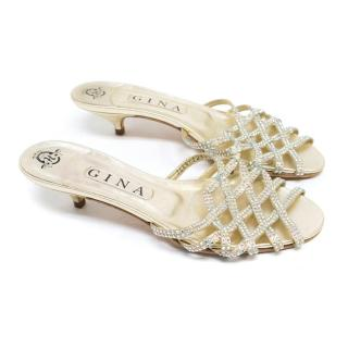 Gina Crystal Cage Sandals