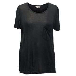 Saint Laurent Black Sheer T-Shirt