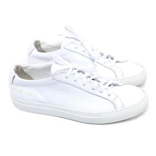 Common Projects White Achilles Leather Trainers