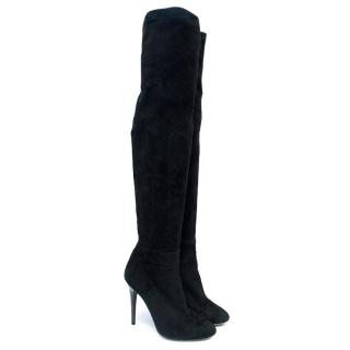 Jimmy Choo Black Suede Over-the-Knee Boots