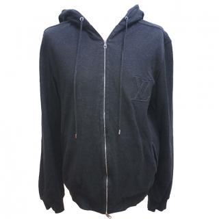 Louis Vuitton Black and Grey Zip Hoodie