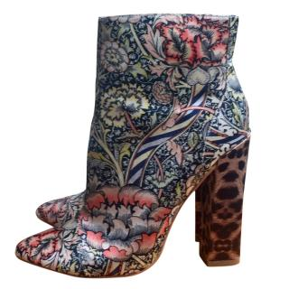 Just Cavalli Multicoloured Heeled Ankle Boots