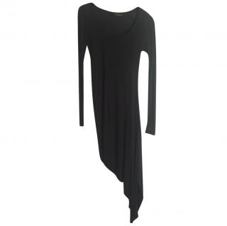 Amanda Wakeley Dark Grey Asymmetric Midi Dress
