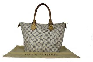 Louis Vuitton Damier Azure Saleya Canvas PM Tote Bag
