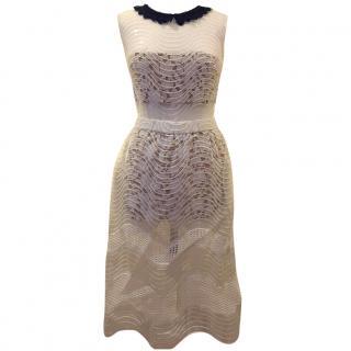 Self Portrait Sequin Chiffon Dress
