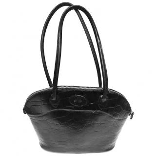 MULBERRY Black Congo Leather BRETON Tote Shoulder Bag