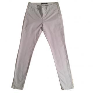 J. Brand 'Limestone' skinny leg pale grey stretchy jeans