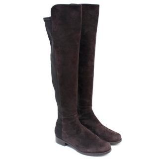 Stuart Weitzman Brown 5050 Suede Knee-High Boots
