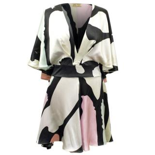 Issa Multicoloured Printed Silk Dress