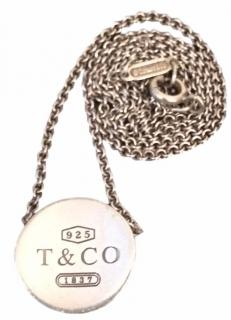 Tiffany & Co. Sterling Silver 1837 Concave Necklace Pendant