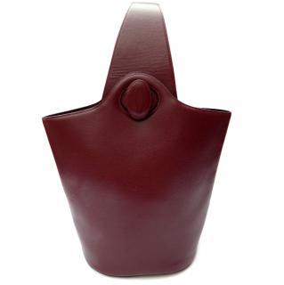 Cartier Must de Cartier Vintage Burgundy Leather Shoulder / Sling Bag