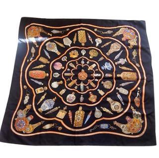 Hermes Silk Scarf 'Flacons' Design