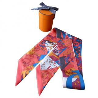 Hermes Silk 'Le Nombre d'Or' Twilly