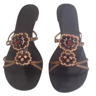 Vicini Sandals with Multicolor Stones