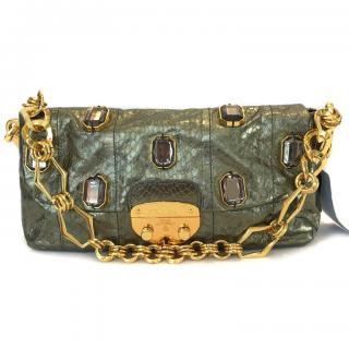 Prada Calfskin/Deerskin Handbag