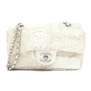 Chanel Cream Multi Textured Flap Bag