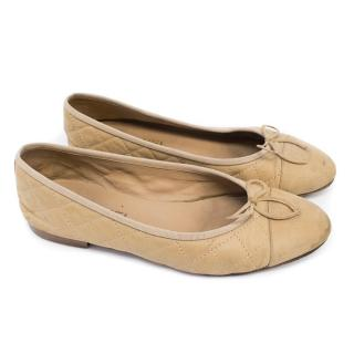 Chanel Nude Ballet Flats