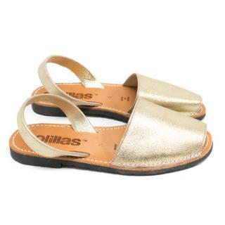 Solillas Gold Metallic Sandals