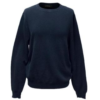 Ermenegildo Zegna Navy Blue Mens Jumper