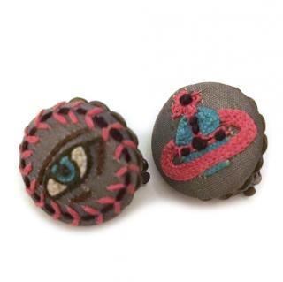 Vivienne Westwood orb clip on earrings